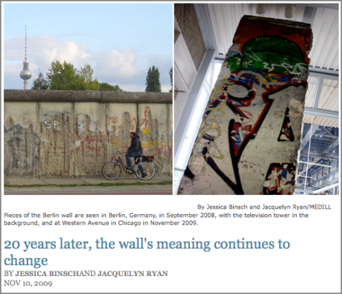 20 years later, the wall's meaning continues to change