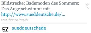 Sueddeutschede Twitterpost