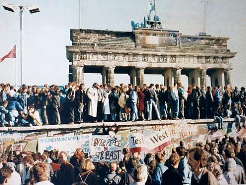 The Berlin wall, finally open