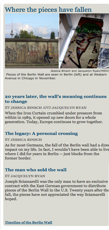 Homepage of Medill Reports on Nov 10, 2009