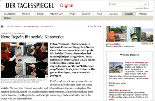 Netzwerke Tagesspiegel Online